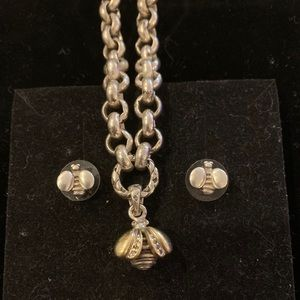 Saint by Sarah Jane Bee bracelet and earrings set